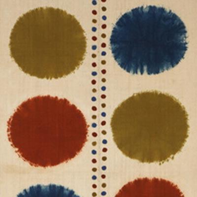 丸文絞飾布<br /><span>芹沢銈介 木綿、絞染 昭和時代〔日本〕1960年 154.0 x 67.0cm</span>