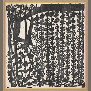 萬朶譜 梅の柵<br /><span>棟方志功 軸装(全7柵) 紙本墨摺 昭和時代〔日本〕1935年 42.6 x 39.6cm</span>