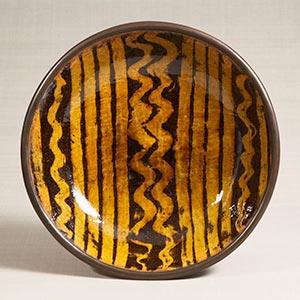 鉛釉象嵌鉢