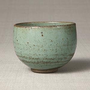 緑釉ぼてぼて茶碗