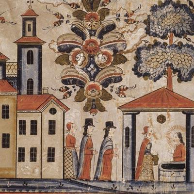 壁画 サマリアの井戸