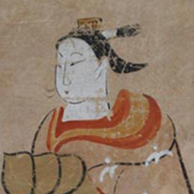 大津絵 太夫<br /><span>軸装 紙本着色 江戸時代〔日本〕17世紀後半~18世紀前半 48.0 x 22.0cm</span>
