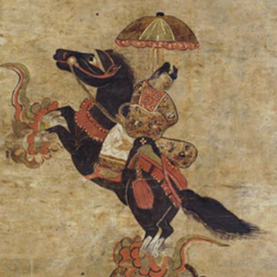 黒駒太子<br /><span>軸装 紙本着色 東北地方 室町時代〔日本〕16世紀 83.0 x 38.0cm</span>