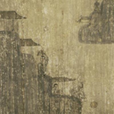 瀟湘八景図 洞庭秋月<br /><span>軸装 紙本墨画 朝鮮時代〔朝鮮半島〕19世紀 83.4 x 25.8cm</span>