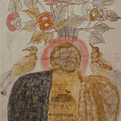 花鳥図<br /><span>軸装 紙本着色 朝鮮時代〔朝鮮半島〕19世紀 76.0 x 31.8cm</span>
