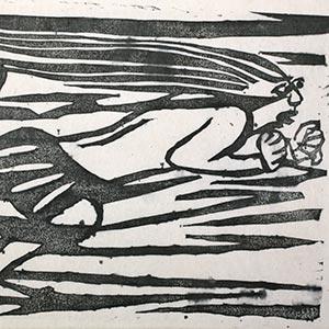 華厳譜 風神の柵<br /><span>額装(全23柵 改刻5柵 計28柵) 紙本墨摺 昭和時代〔日本〕1936年 30.0×39.0cm</span>