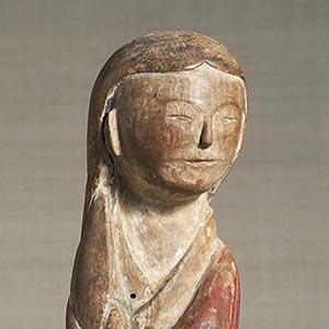 木偶 童女像<br /><span>木造彩色 朝鮮時代〔朝鮮半島〕19世紀 28.0cm</span>